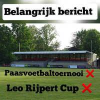 Paasvoetbaltoernooi & Leo Rijpert Cup bij RSC Alliance gaan niet door