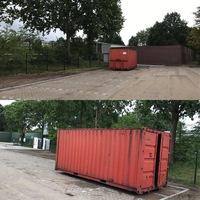Papiercontainer staat weer op het parkeerterrein