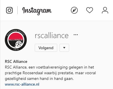 RSC Alliance nu ook op Instagram!